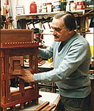 A photograph of Robert H Lee in his workshop